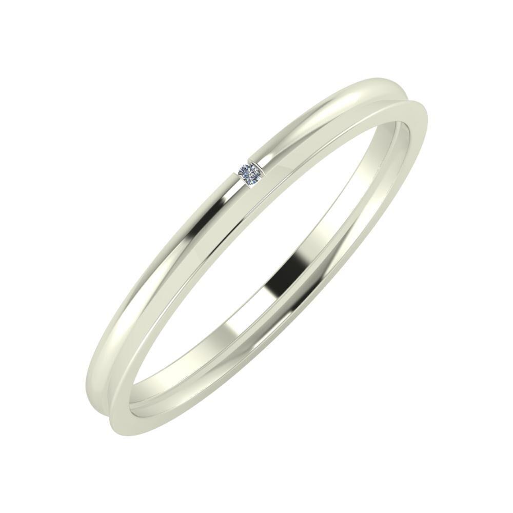 Adalind - Aisa 2mm 18 karátos fehér arany karikagyűrű