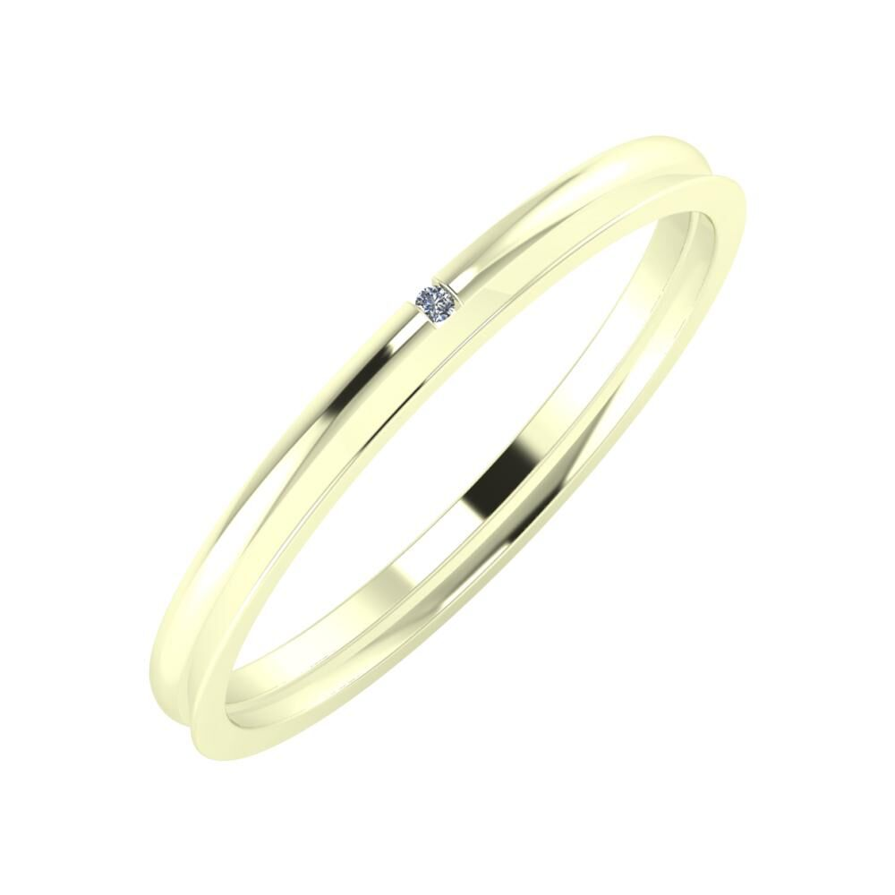 Adalind - Aisa 2mm 22 karátos fehér arany karikagyűrű