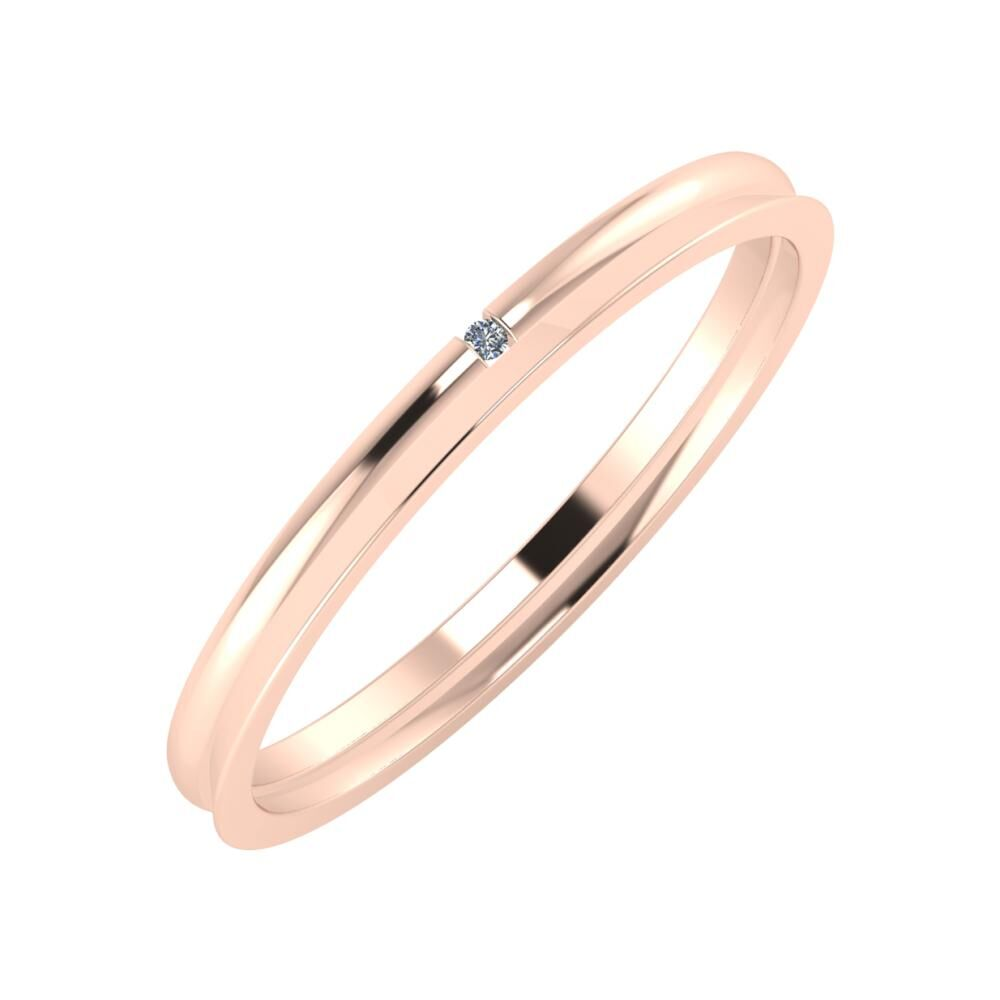 Adalind - Aisa 2mm 14 karátos rosé arany karikagyűrű