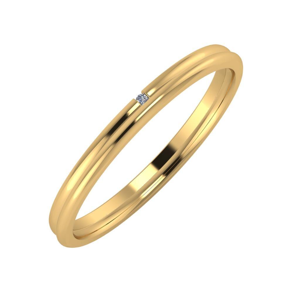 Adalind - Aletta 2mm 22 karátos sárga arany karikagyűrű