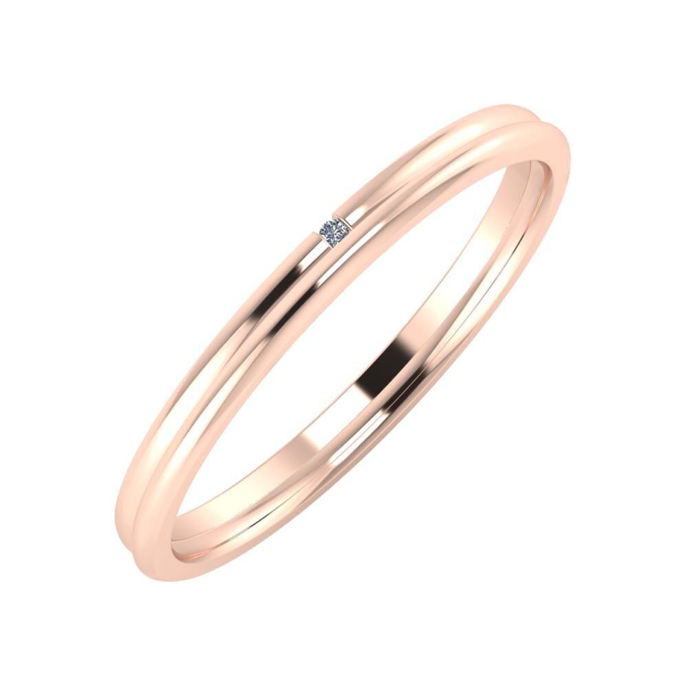 Adalind - Aletta 2mm 14 karátos rosé arany karikagyűrű
