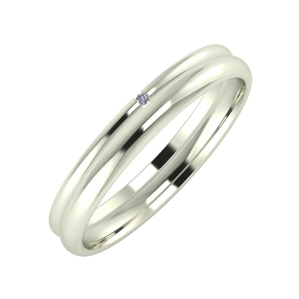 Adalind - Alexa 3mm 18 karátos fehér arany karikagyűrű