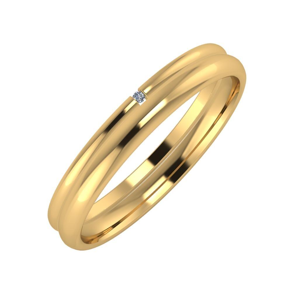 Adalind - Alexa 3mm 22 karátos sárga arany karikagyűrű
