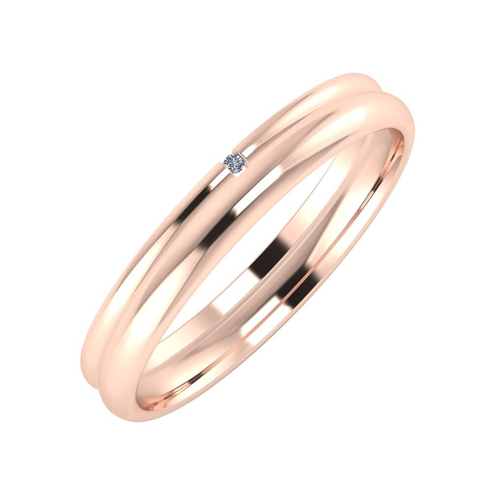 Adalind - Alexa 3mm 14 karátos rosé arany karikagyűrű