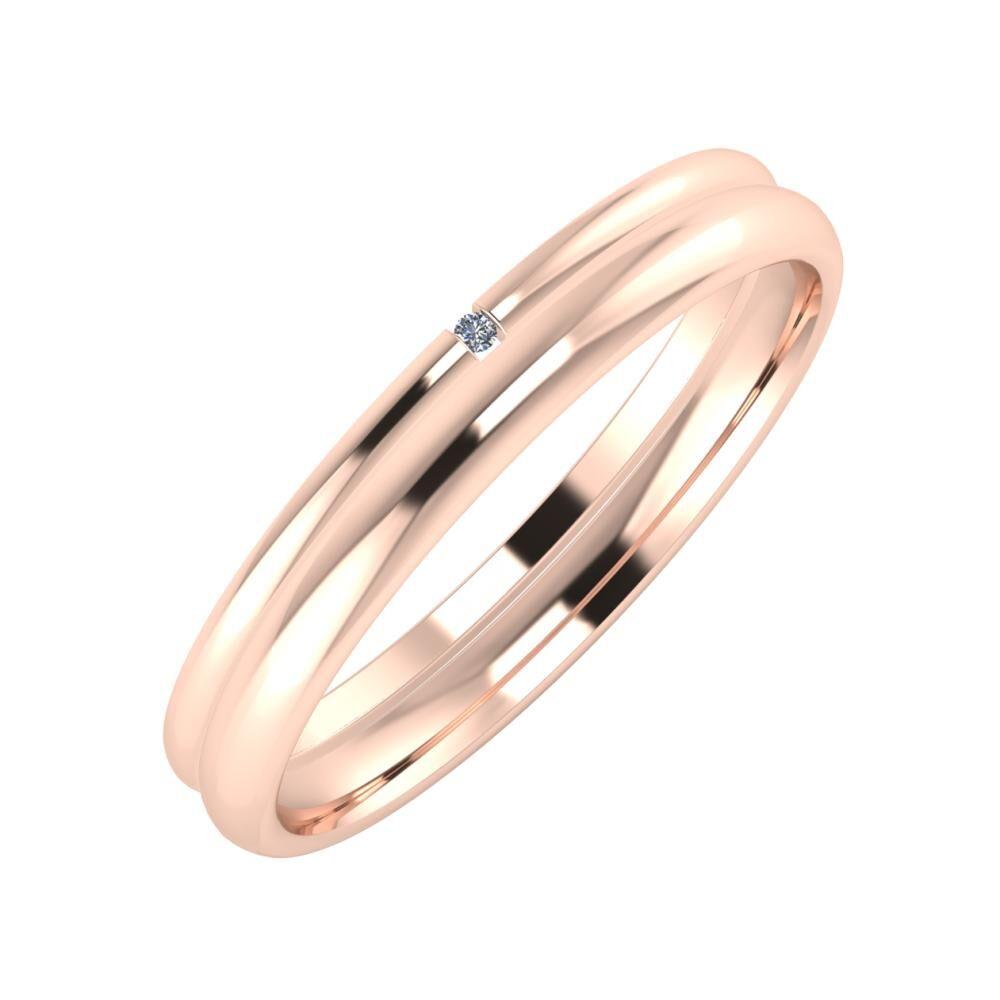 Adalind - Alexa 3mm 18 karátos rosé arany karikagyűrű