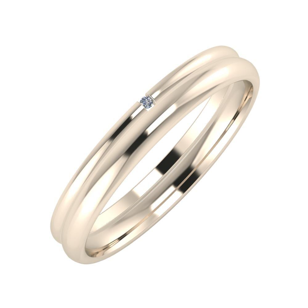 Adalind - Alexa 3mm 22 karátos rosé arany karikagyűrű