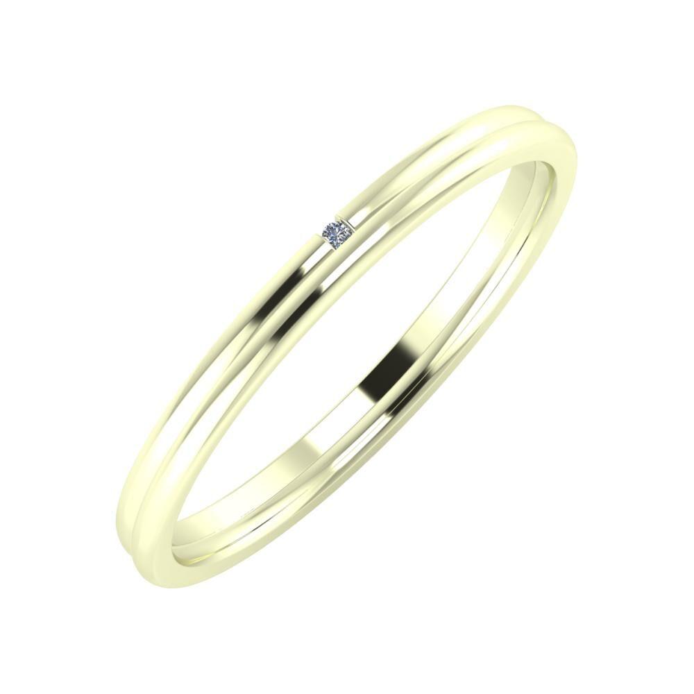 Adalind - Alexandra 2mm 22 karátos fehér arany karikagyűrű