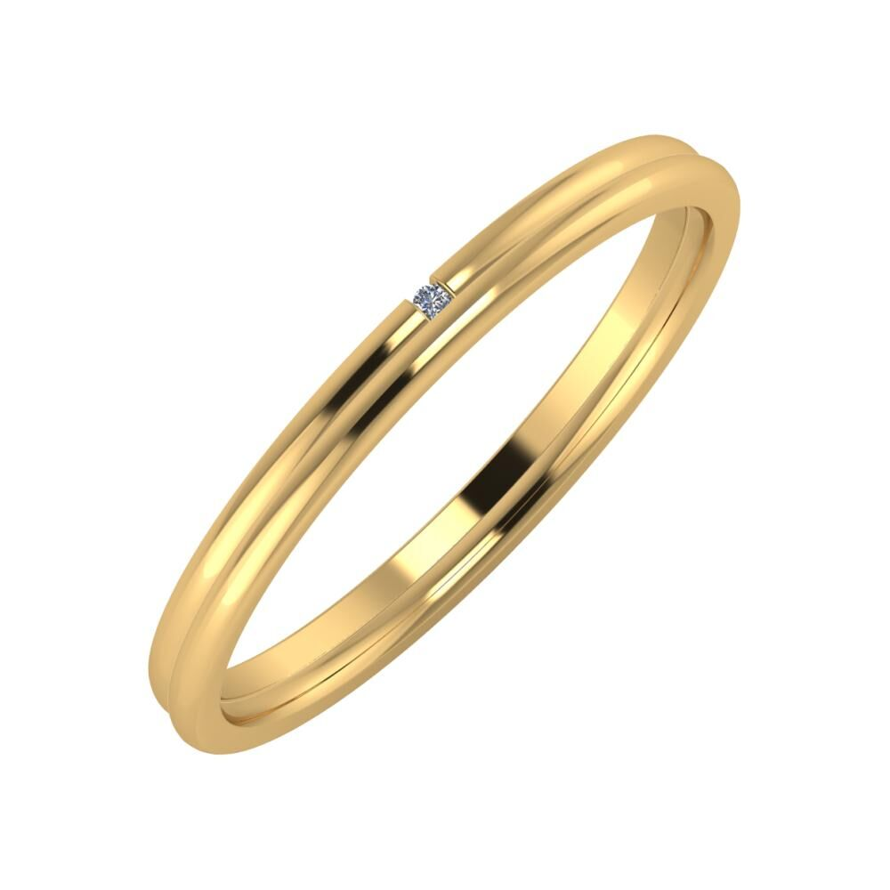 Adalind - Alexandra 2mm 22 karátos sárga arany karikagyűrű
