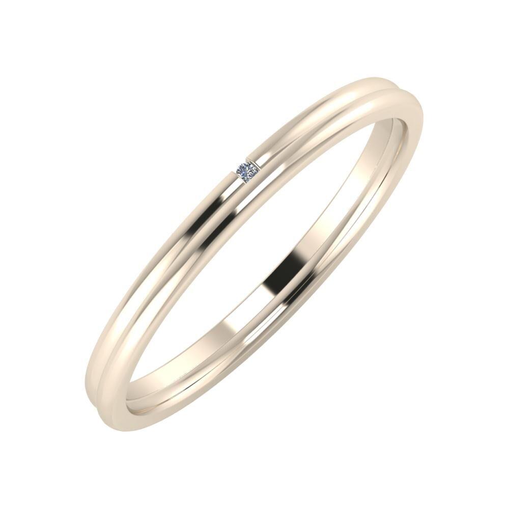 Adalind - Alexandra 2mm 22 karátos rosé arany karikagyűrű