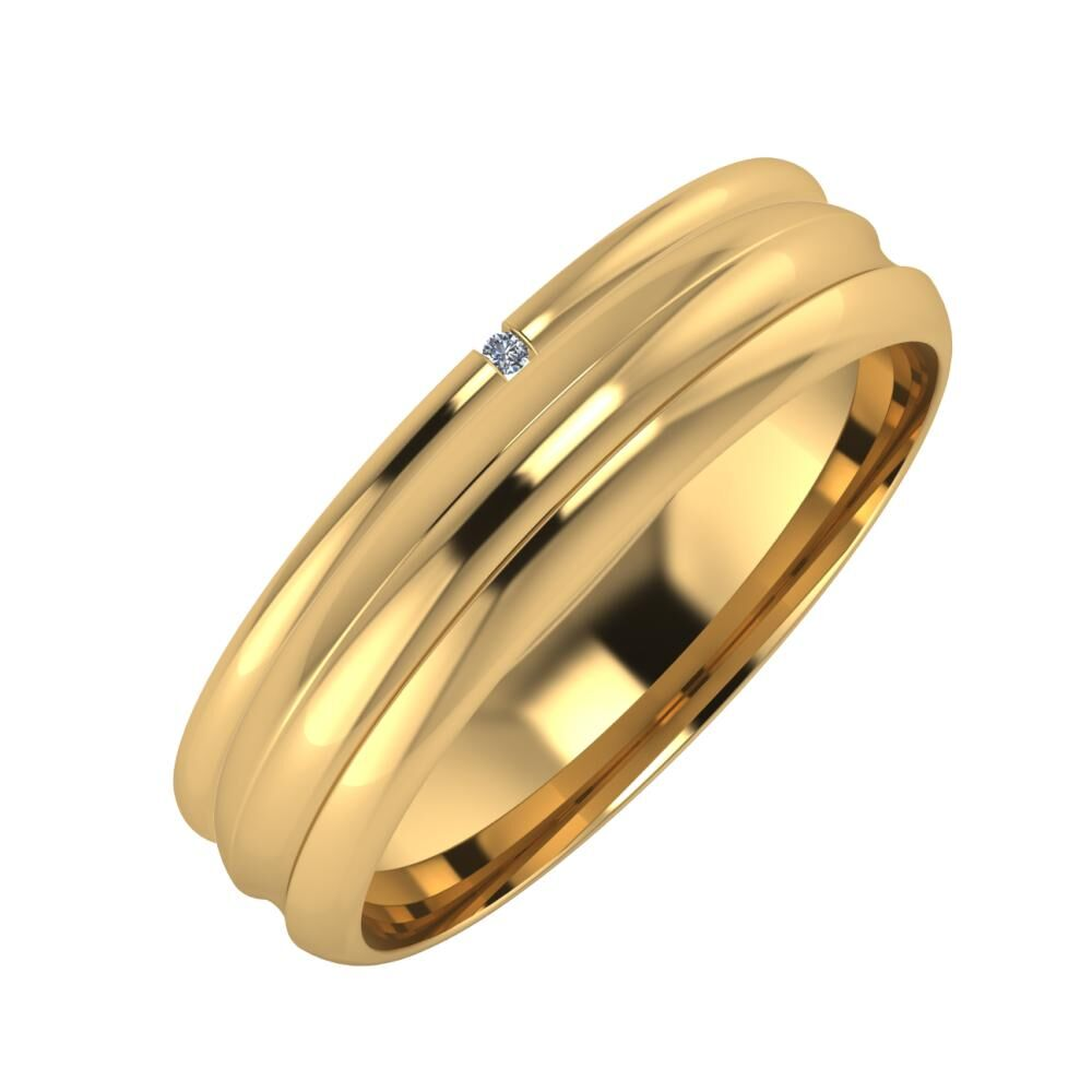 Adalind - Alexandrin 5mm 22 karátos sárga arany karikagyűrű