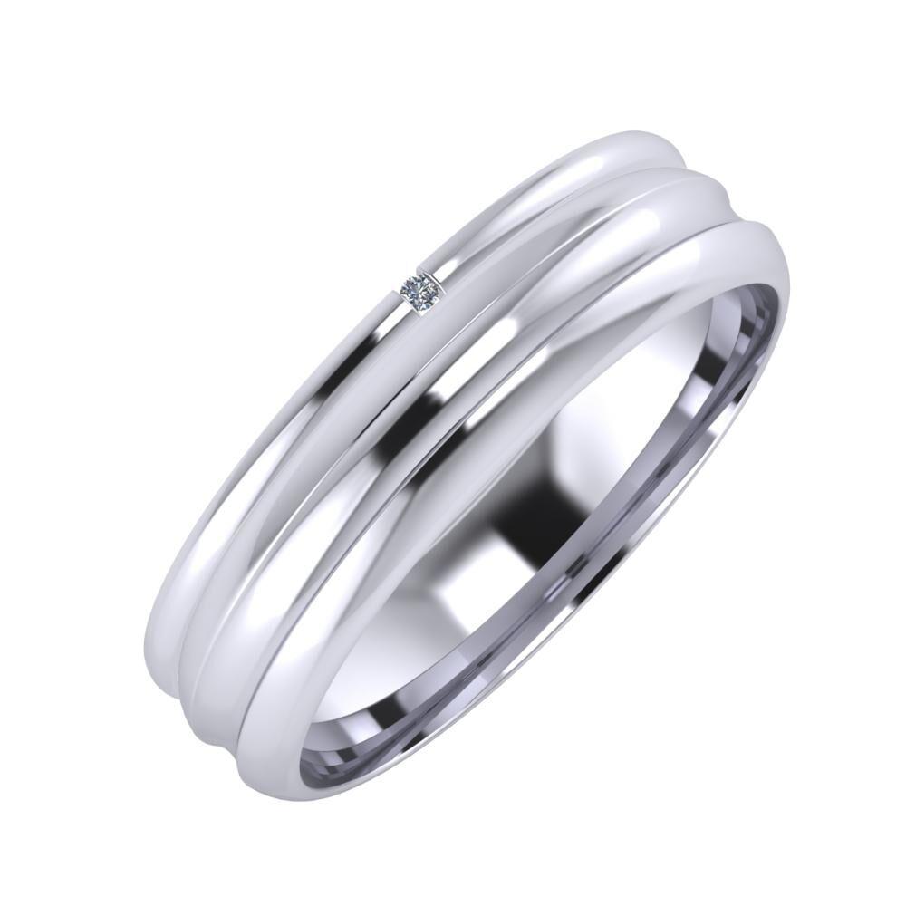 Adalind - Alexandrin 5mm platina karikagyűrű
