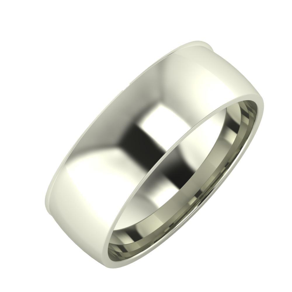 Adalind - Alma 7mm 14 karátos fehér arany karikagyűrű