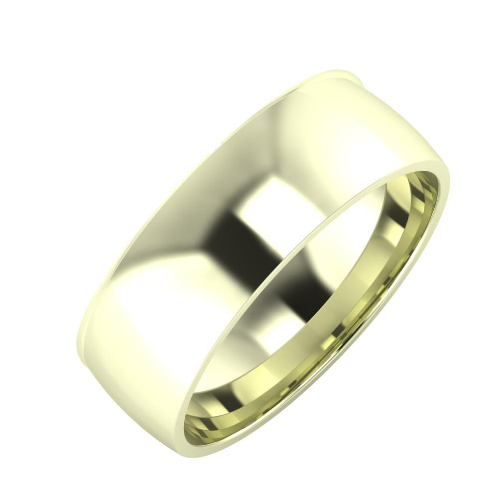 Adalind - Alma 7mm 22 karátos fehér arany karikagyűrű