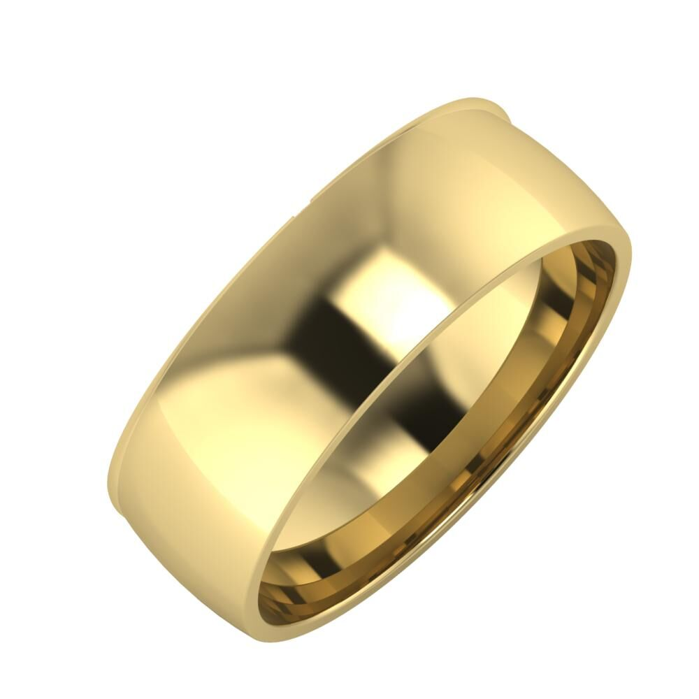 Adalind - Alma 7mm 14 karátos sárga arany karikagyűrű