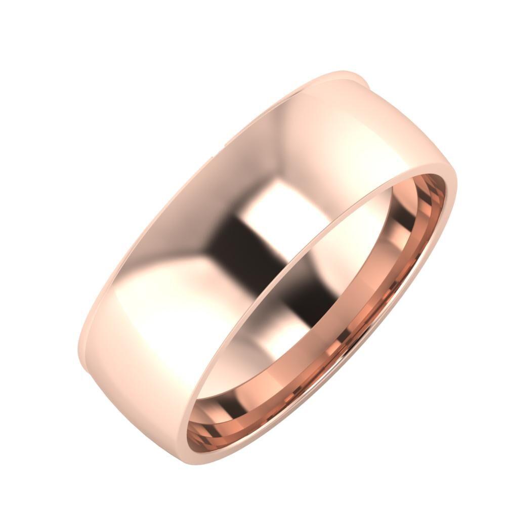 Adalind - Alma 7mm 14 karátos rosé arany karikagyűrű