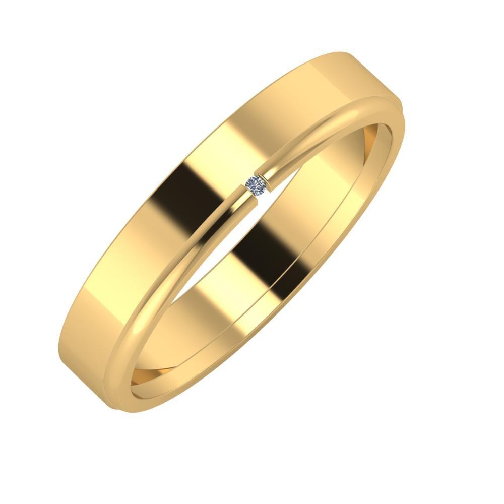 Adela - Adalind 4mm 22 karátos sárga arany karikagyűrű