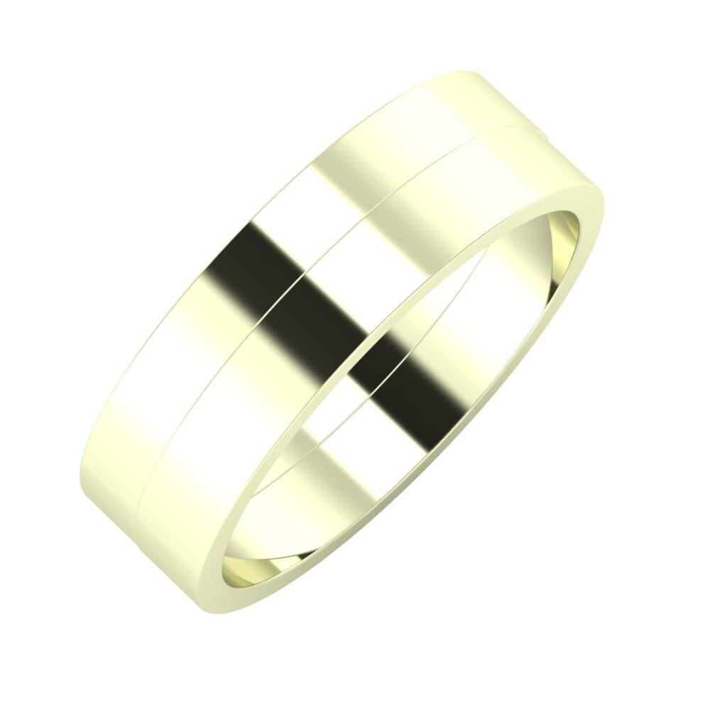 Adela - Adela 6mm 22 karátos fehér arany karikagyűrű