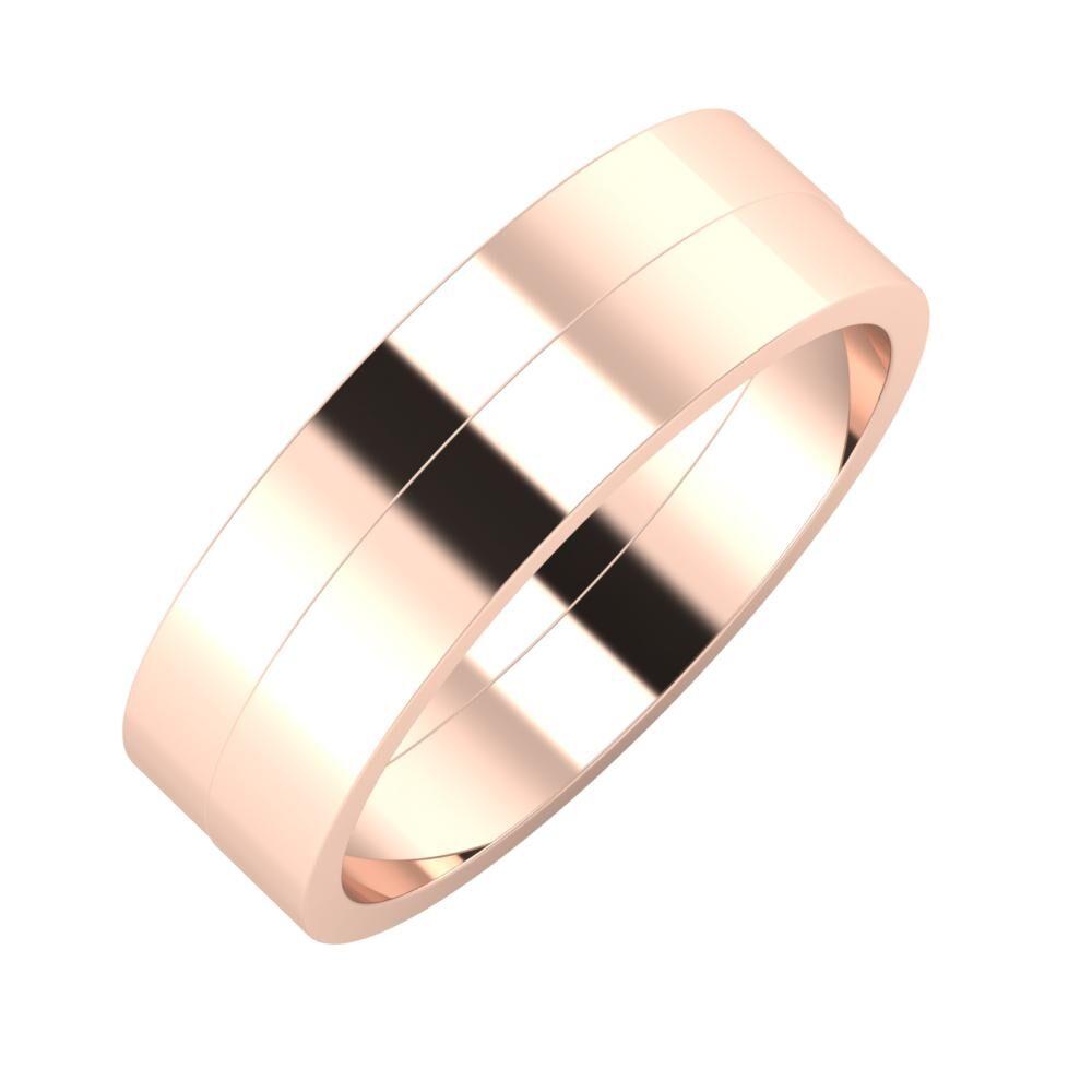 Adela - Adela 6mm 14 karátos rosé arany karikagyűrű