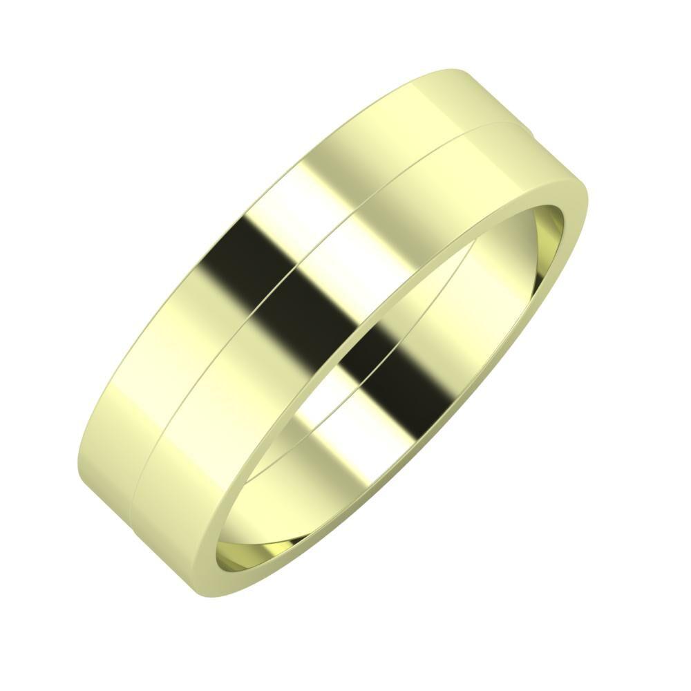 Adela - Adela 6mm 14 karátos zöld arany karikagyűrű