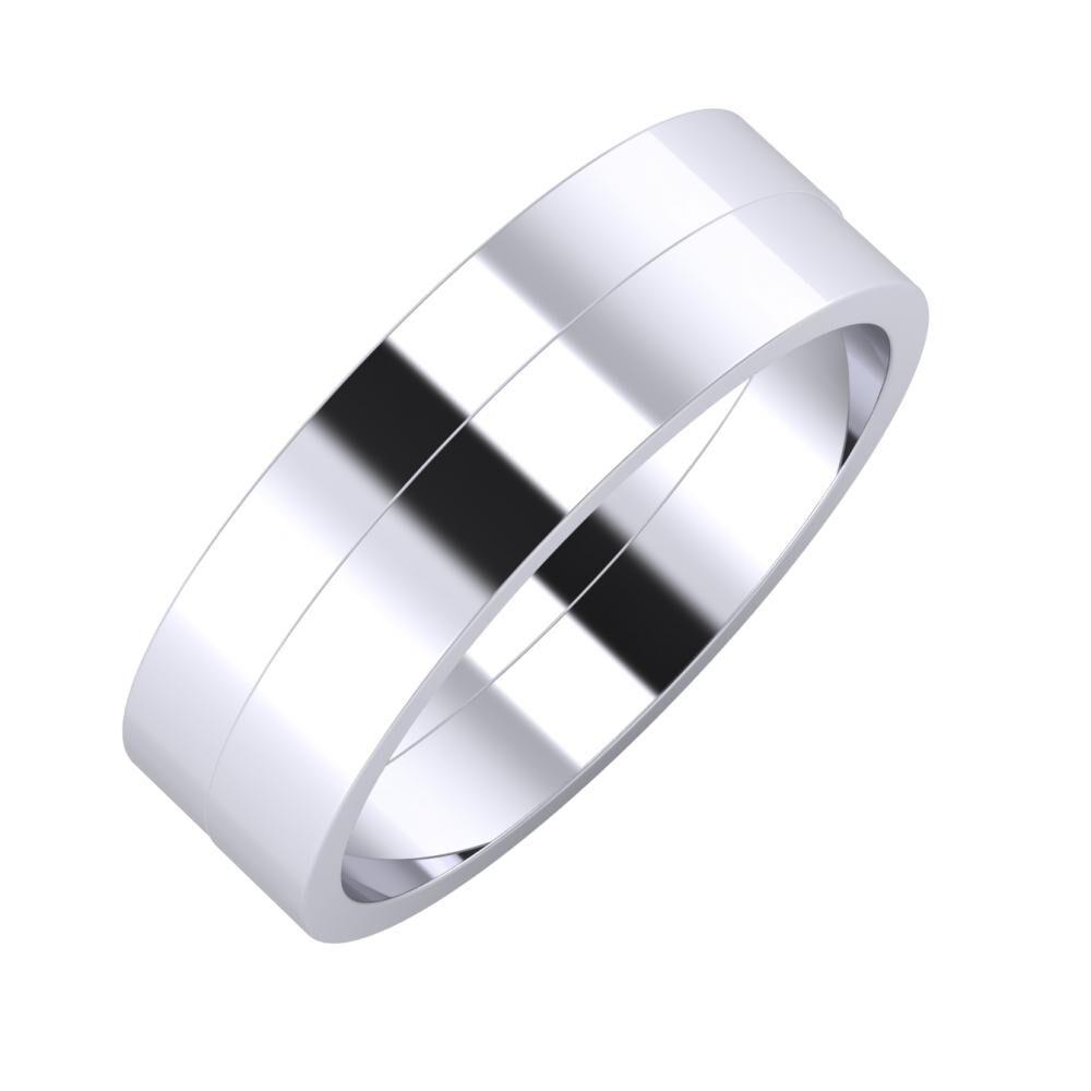 Adela - Adela 6mm platina karikagyűrű