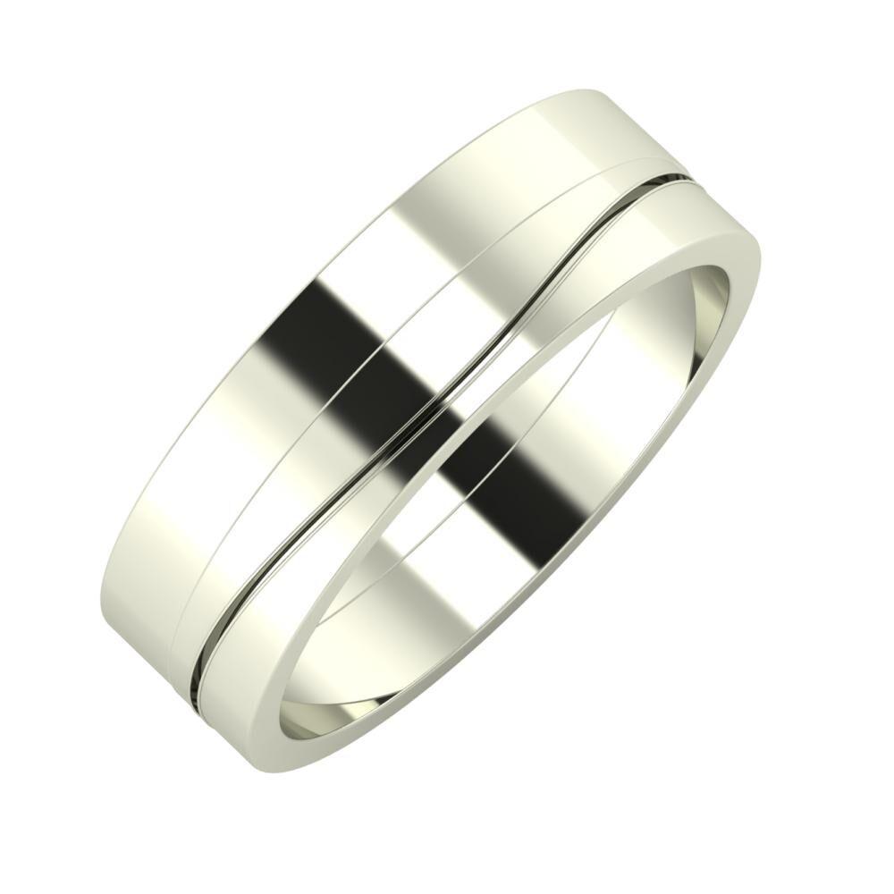 Adela - Adelinda 6mm 18 karátos fehér arany karikagyűrű