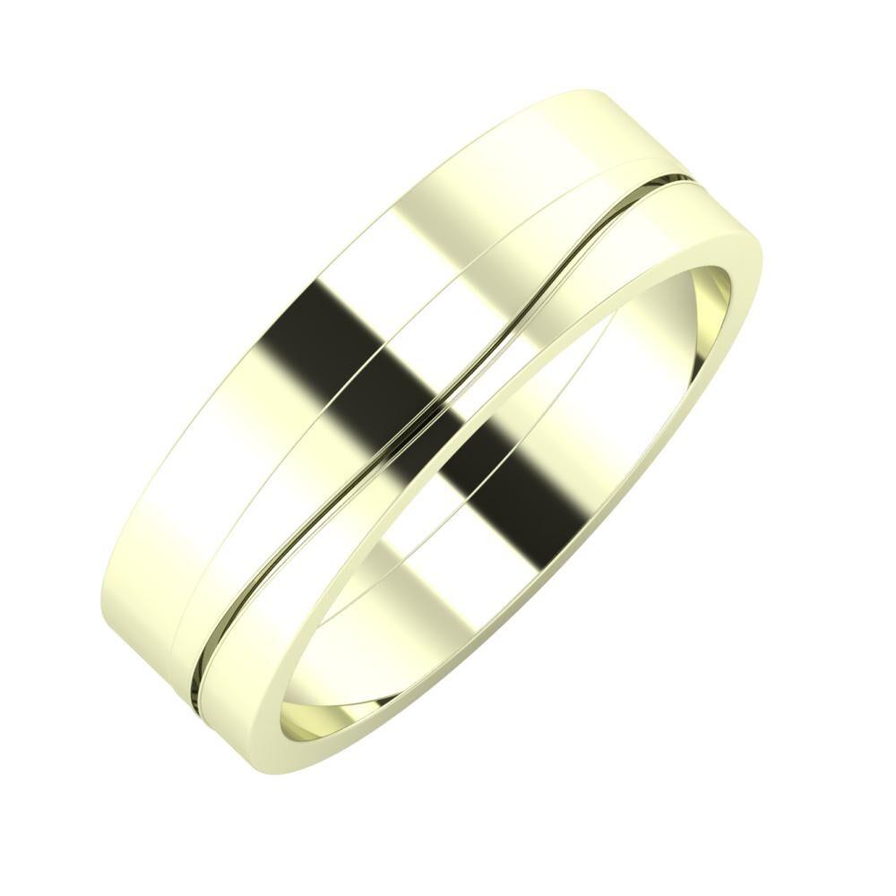 Adela - Adelinda 6mm 22 karátos fehér arany karikagyűrű