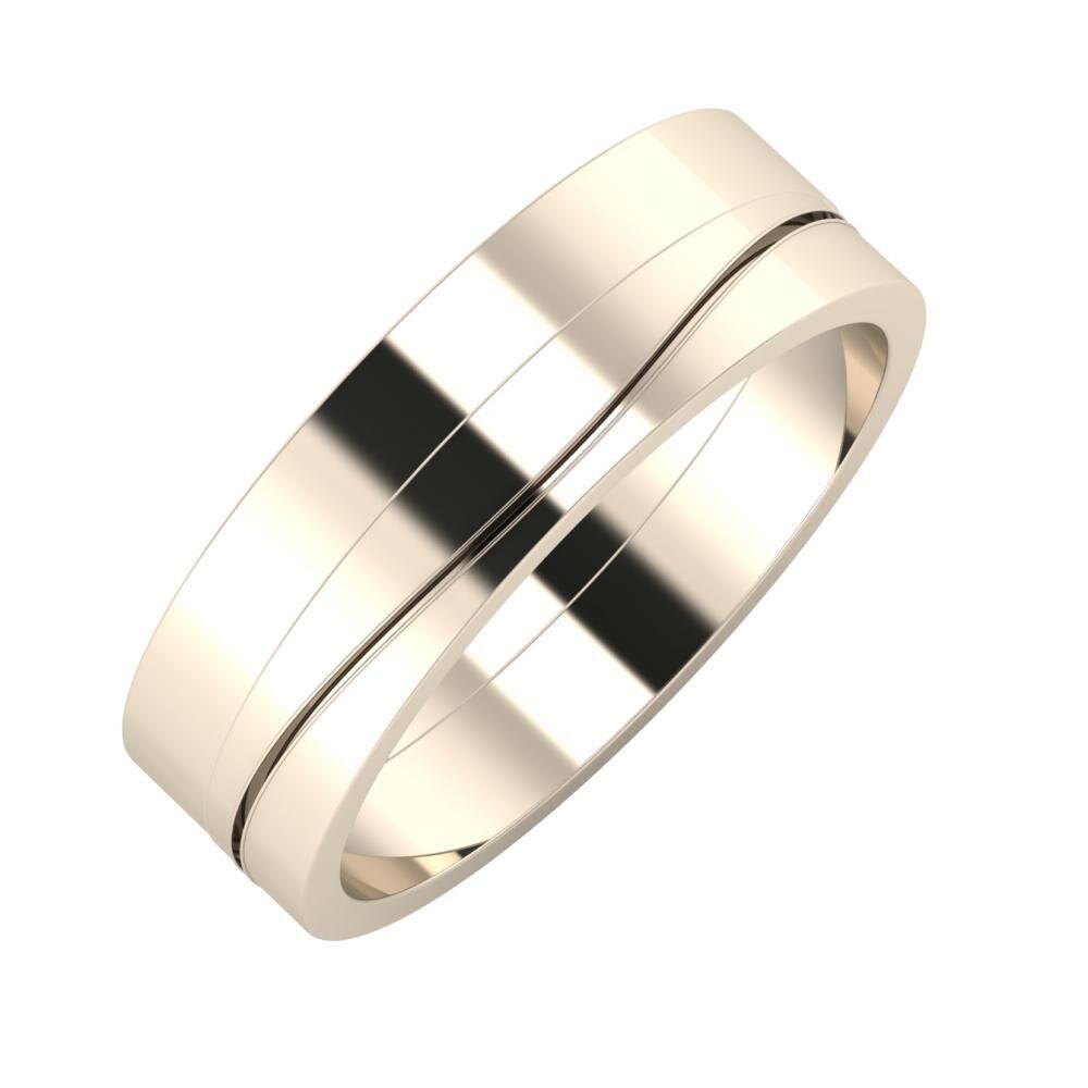 Adela - Adelinda 6mm 22 karátos rosé arany karikagyűrű