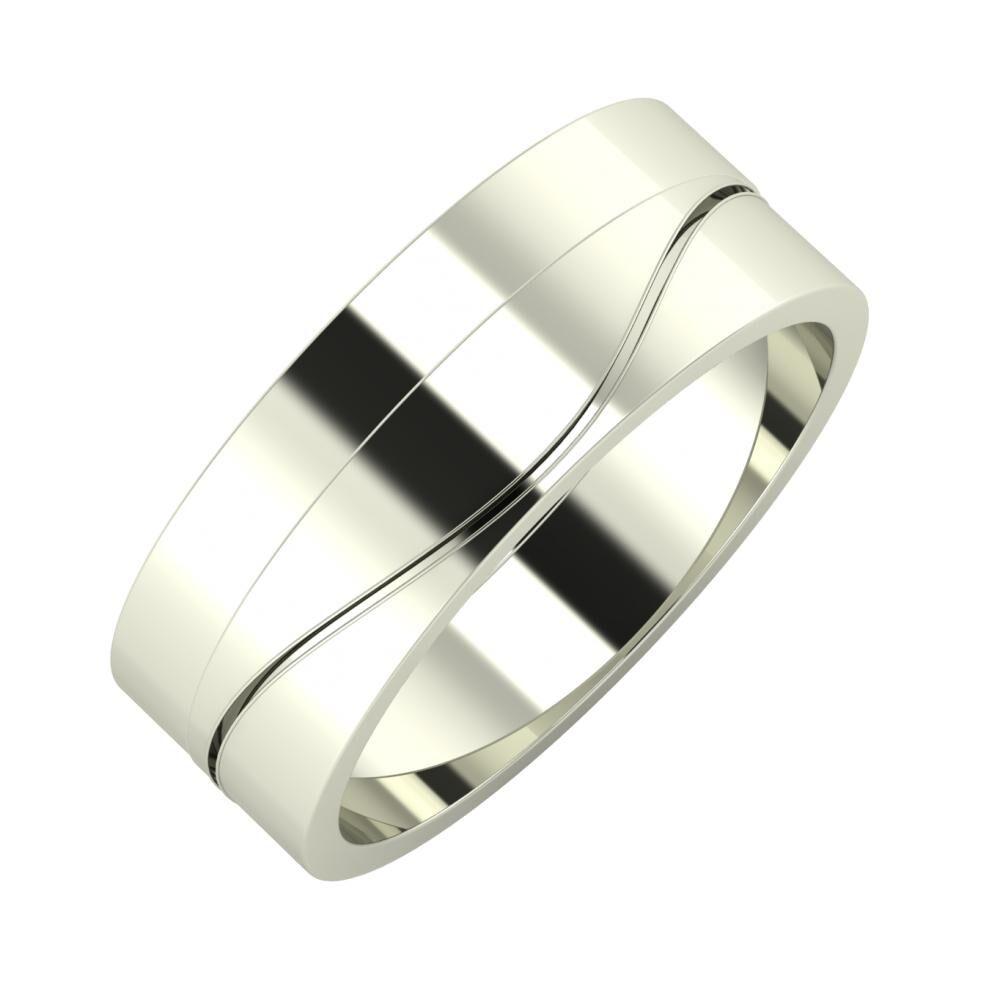 Adela - Adelinda 7mm 14 karátos fehér arany karikagyűrű