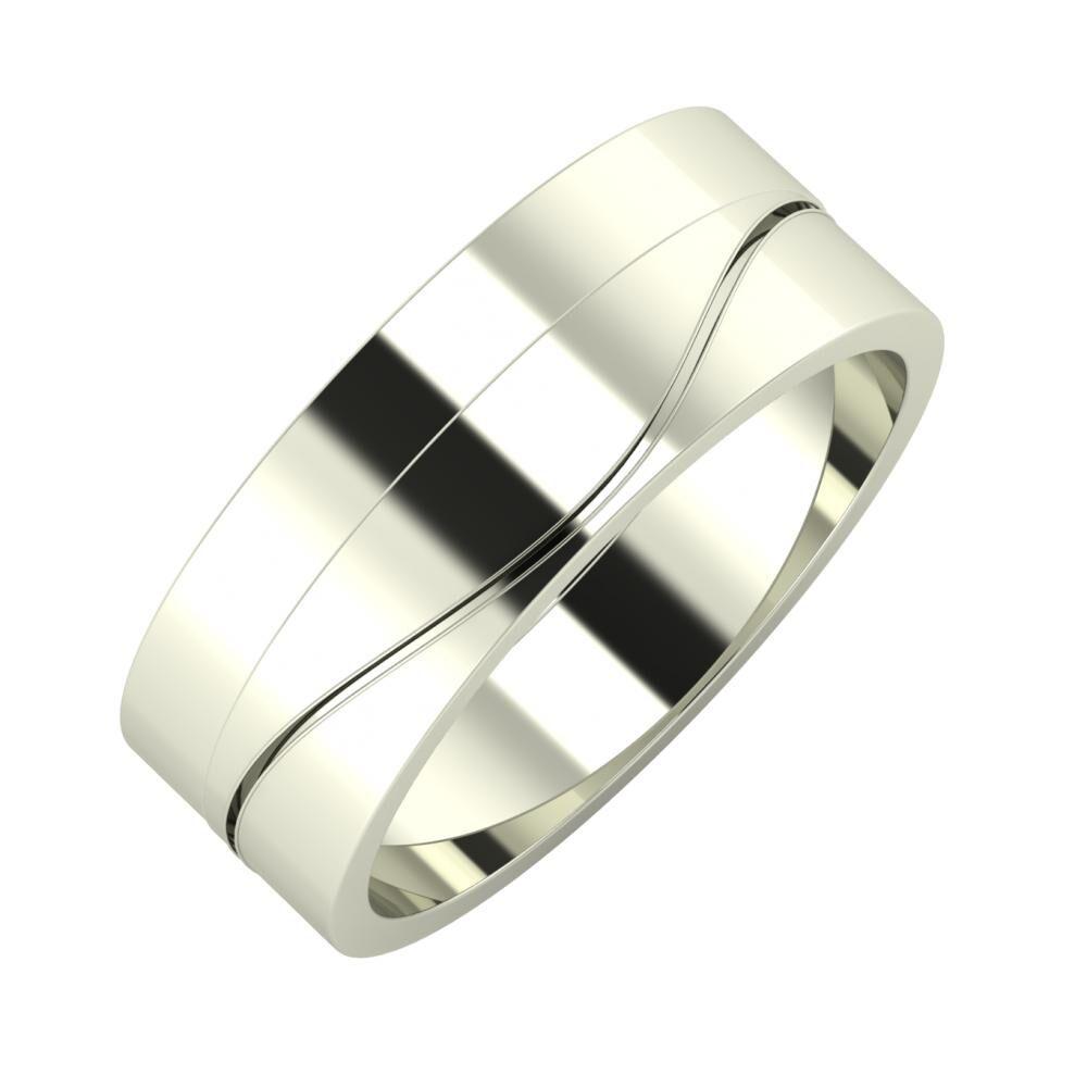 Adela - Adelinda 7mm 18 karátos fehér arany karikagyűrű