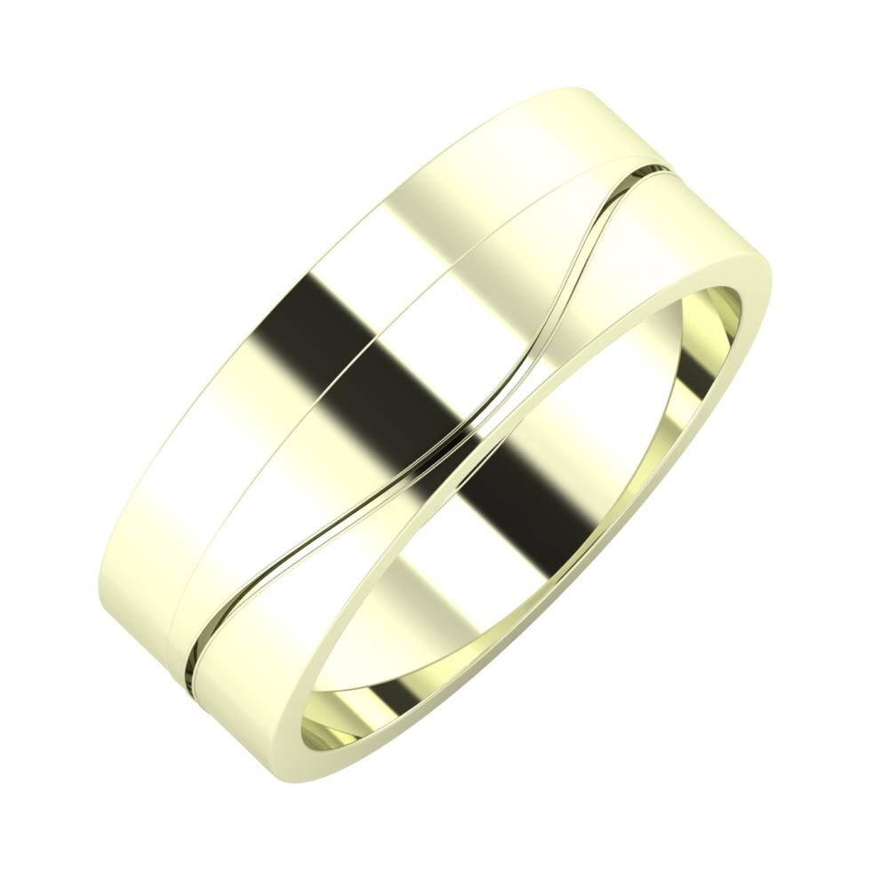 Adela - Adelinda 7mm 22 karátos fehér arany karikagyűrű