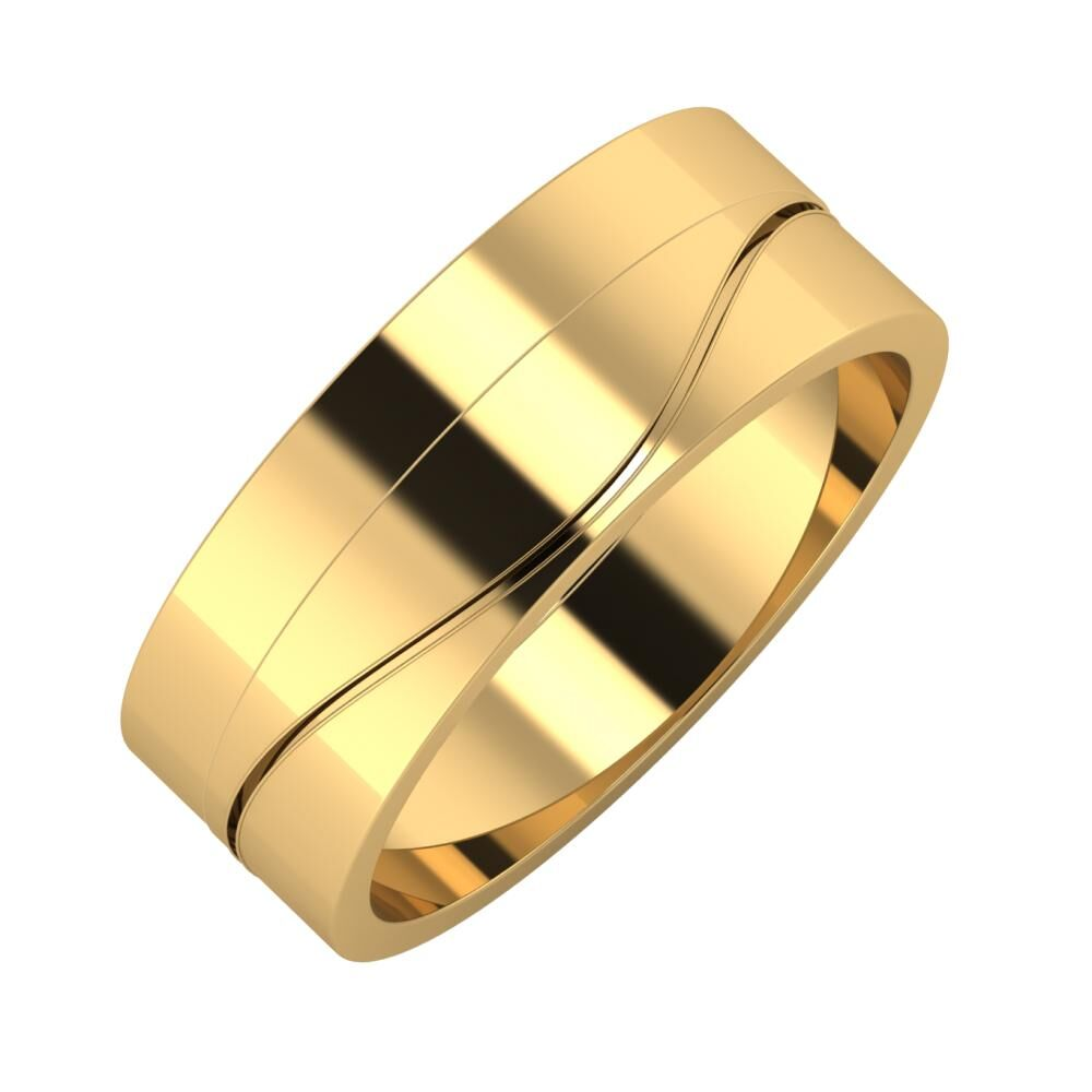 Adela - Adelinda 7mm 18 karátos sárga arany karikagyűrű