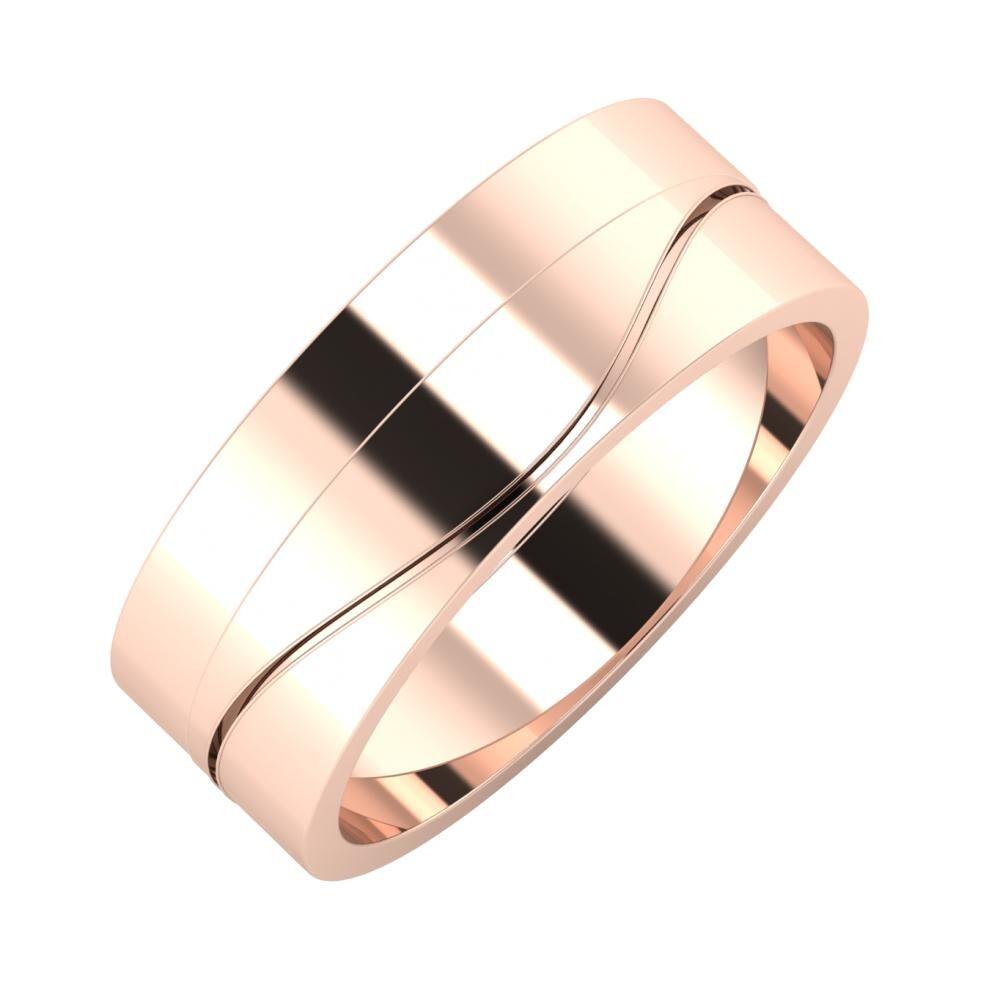 Adela - Adelinda 7mm 14 karátos rosé arany karikagyűrű
