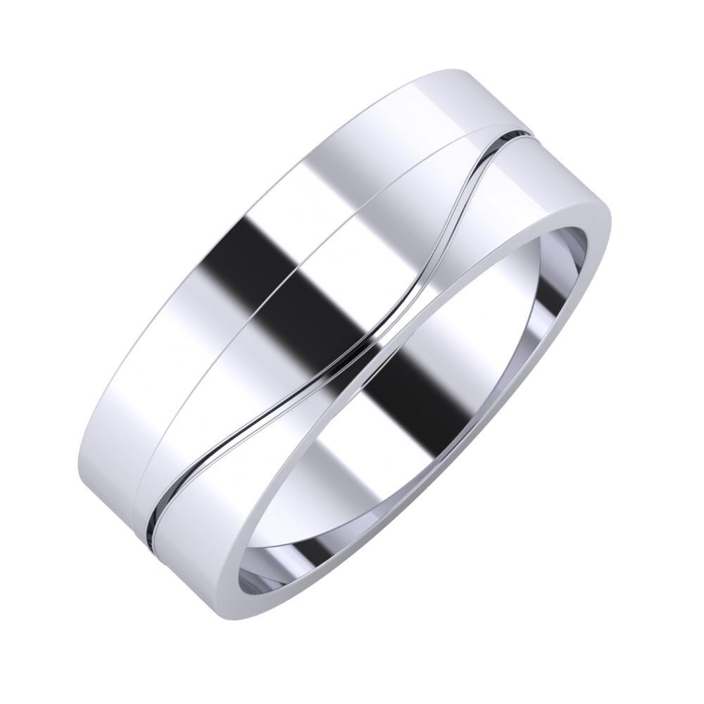 Adela - Adelinda 7mm platina karikagyűrű