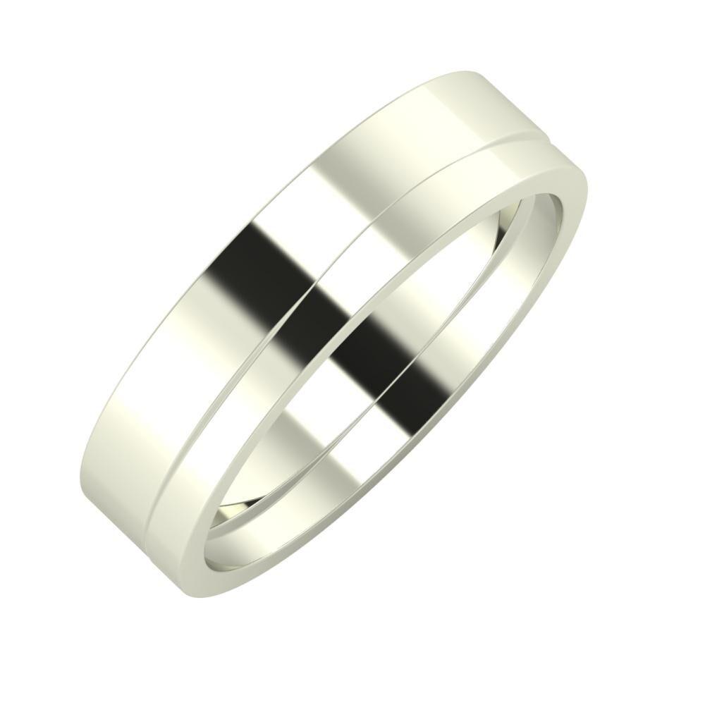 Adela - Adria 5mm 18 karátos fehér arany karikagyűrű