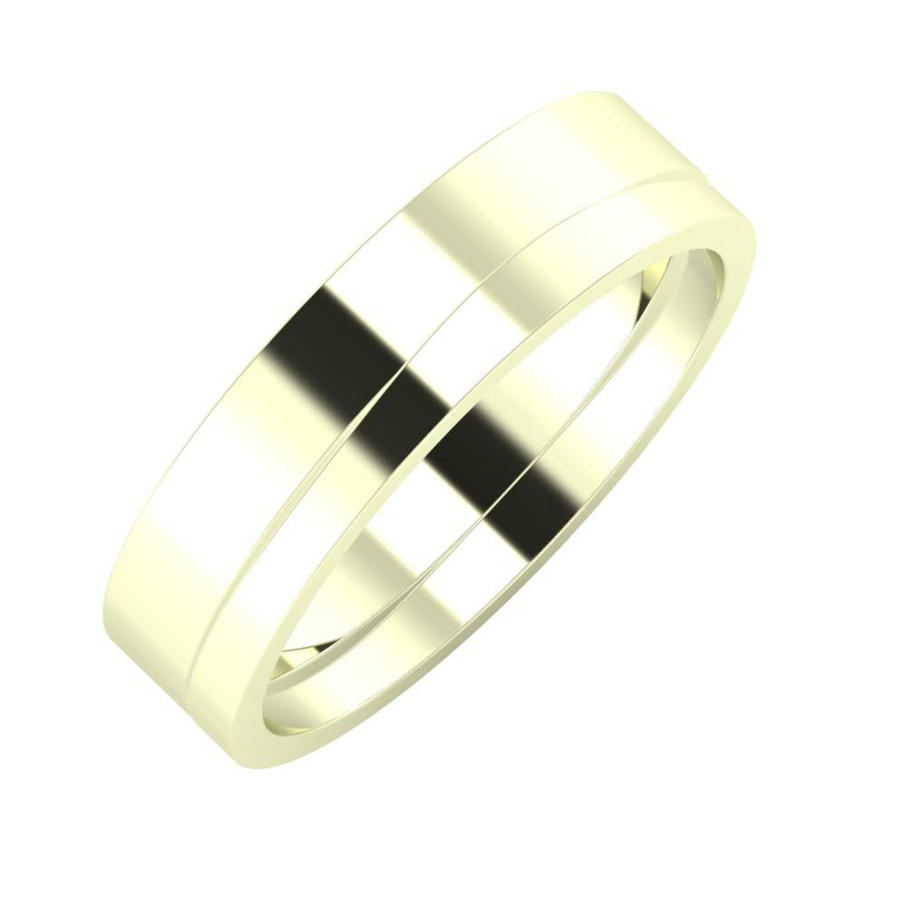 Adela - Adria 5mm 22 karátos fehér arany karikagyűrű