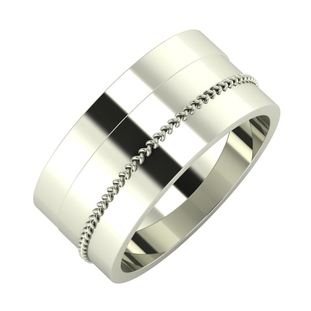 Adela - Áfonya 9mm 14 karátos fehér arany karikagyűrű