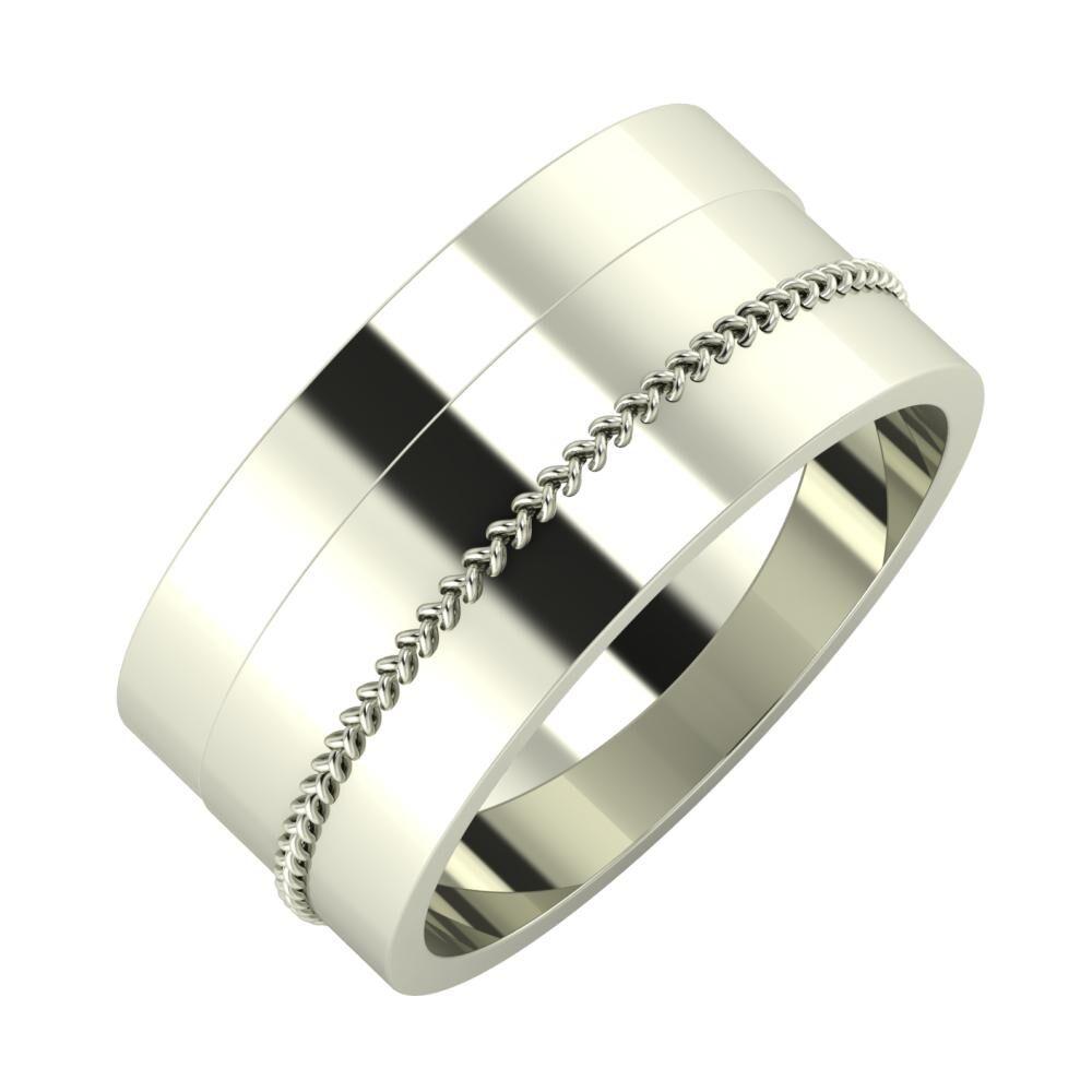 Adela - Áfonya 9mm 18 karátos fehér arany karikagyűrű