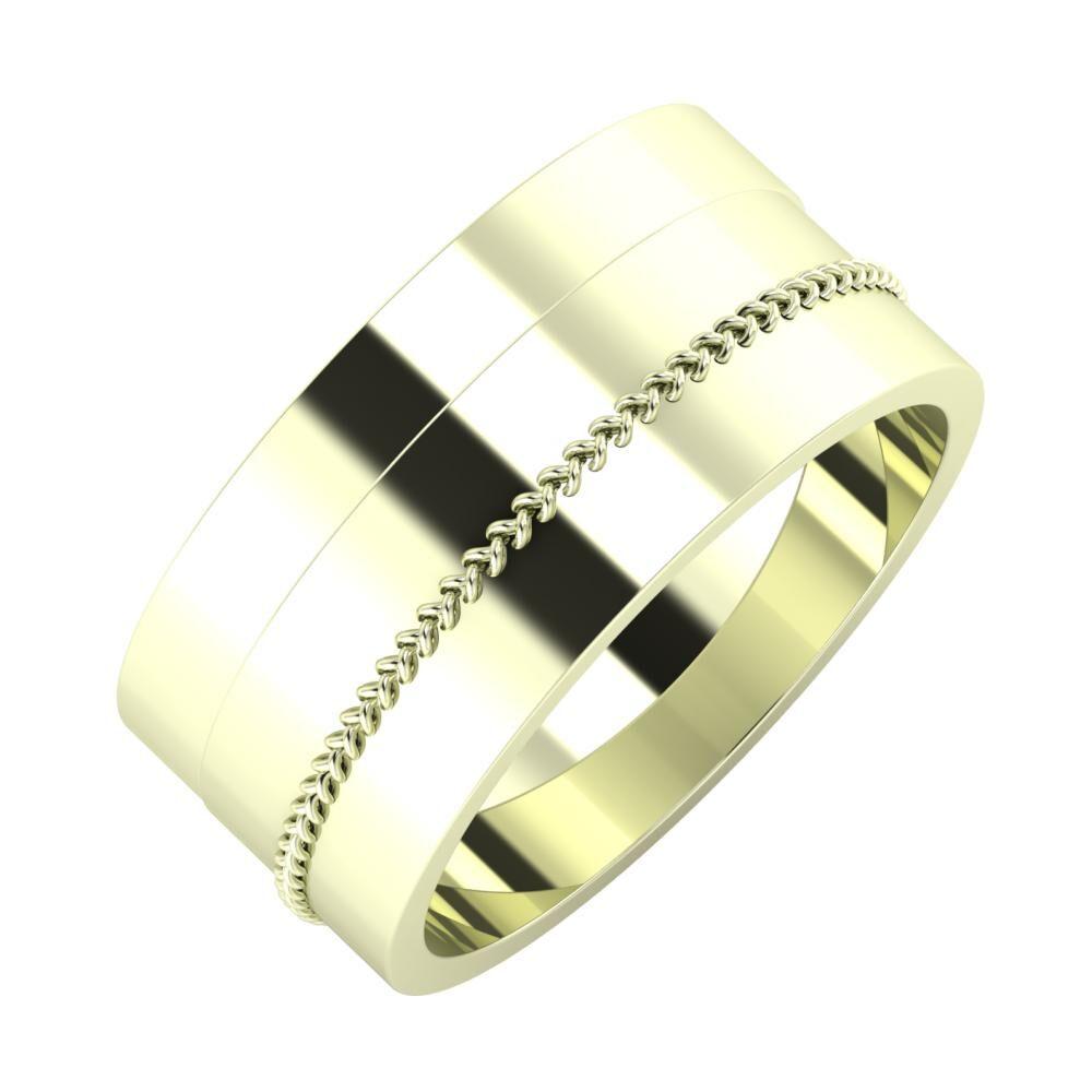 Adela - Áfonya 9mm 22 karátos fehér arany karikagyűrű