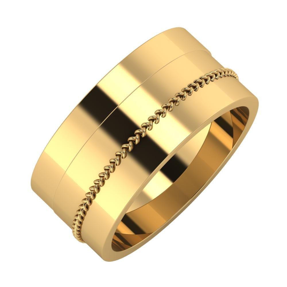 Adela - Áfonya 9mm 22 karátos sárga arany karikagyűrű