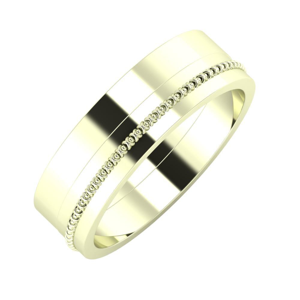 Adela - Afrodita 6mm 22 karátos fehér arany karikagyűrű