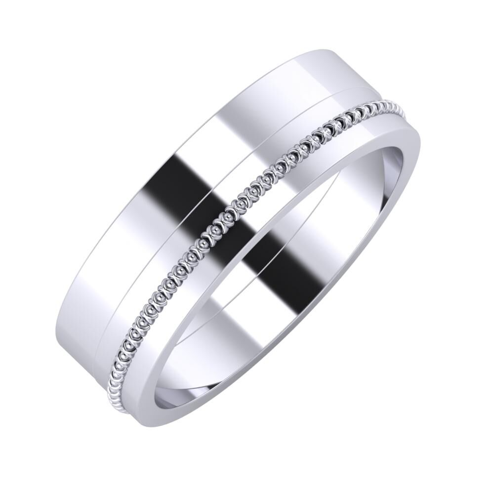 Adela - Afrodita 6mm platina karikagyűrű