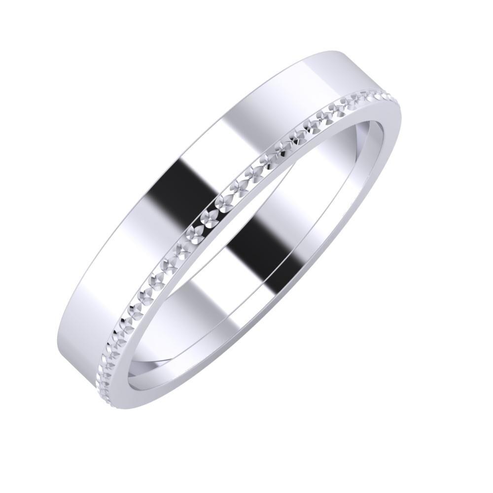 Adela - Ági 4mm platina karikagyűrű