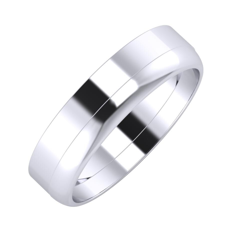 Adela - Ágosta 5mm platina karikagyűrű