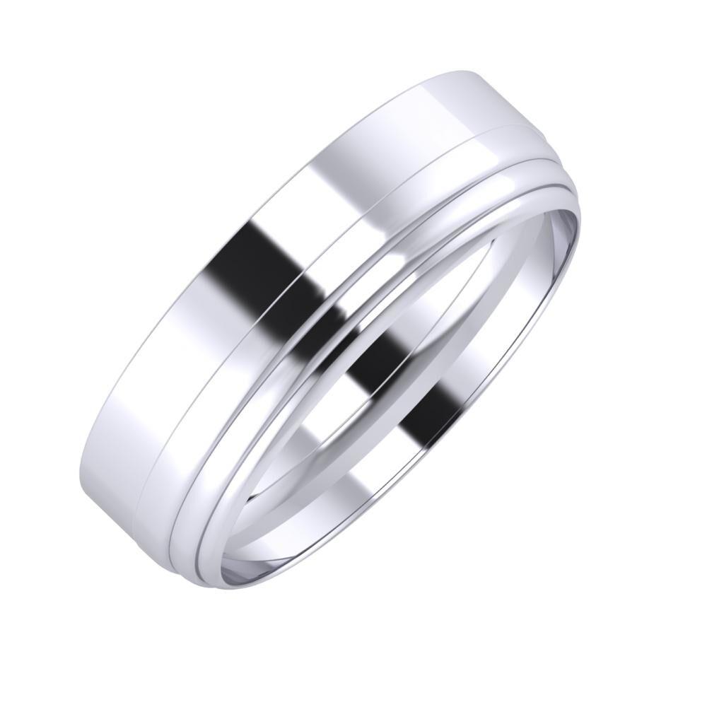 Adela - Aina 6mm platina karikagyűrű