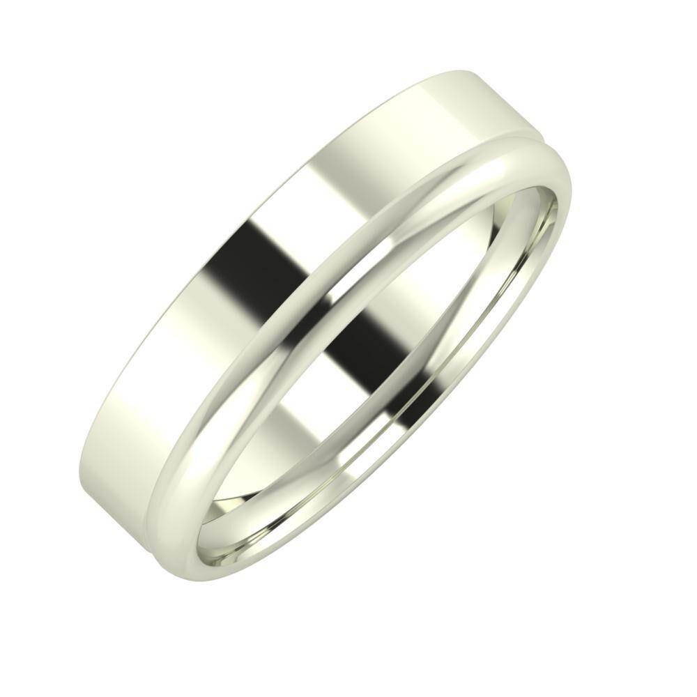 Adela - Alexa 5mm 18 karátos fehér arany karikagyűrű