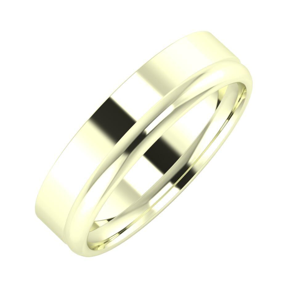 Adela - Alexa 5mm 22 karátos fehér arany karikagyűrű