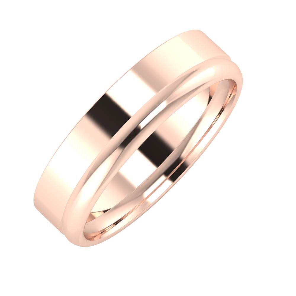 Adela - Alexa 5mm 14 karátos rosé arany karikagyűrű