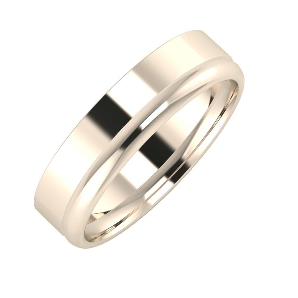 Adela - Alexa 5mm 22 karátos rosé arany karikagyűrű