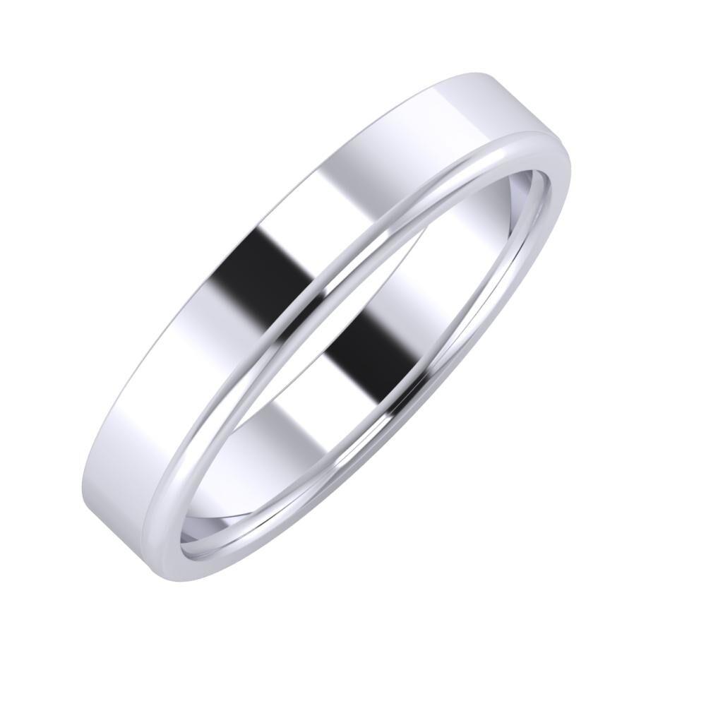 Adela - Alexandra 4mm platina karikagyűrű