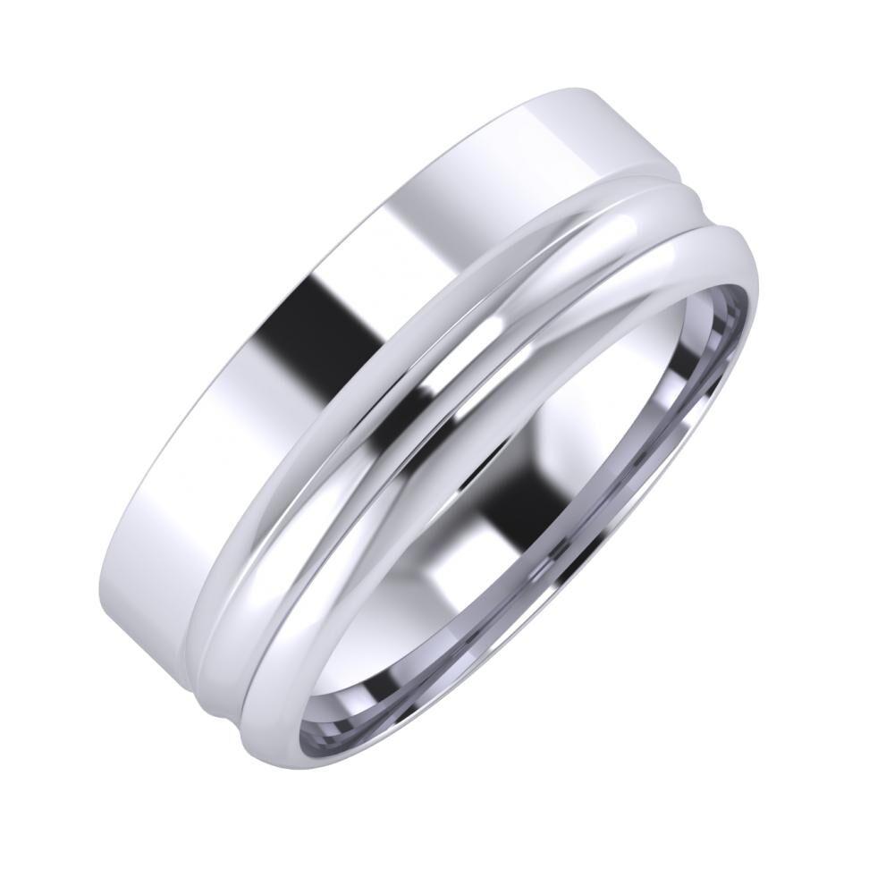 Adela - Alexandrin 7mm platina karikagyűrű